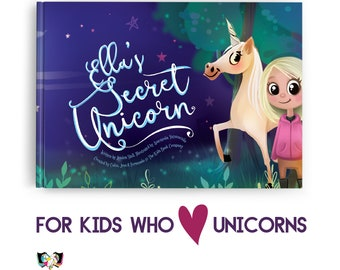 Personalized Unicorn Book - Save a Unicorn in this educational, playful & personalized children's adventure story where your kid is the hero
