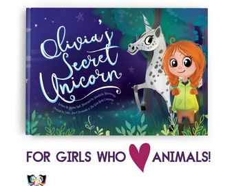 Educational Kids Book Perfect for Girls who Love Animals! Personalize this educational & playful children's adventure for kids aged 0-9!