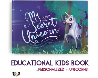 Educational Children's Book with Unicorns! Personalise this educational & playful children's adventure for kids aged 0-9!