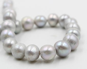 90/%OFF Large Hole pearl 9.5-10.5mm natural white Round Potato pearl Freshwater Pearl Necklace pearl earrings Loose Beads full Strand PL2262