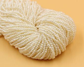 2 - 3 mm white potato freshwater pearls, white potato pearl,15'' full strand, potato pearl strands, pearl wholesale