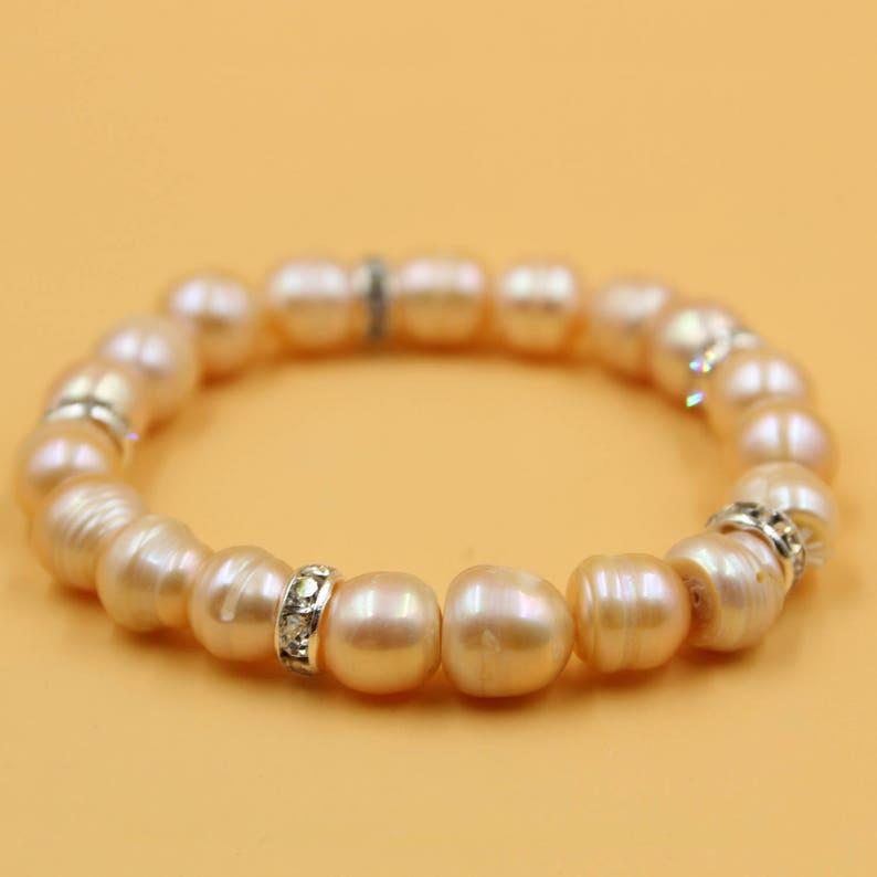 bridal bracelet golden weddings bridesmaid bracelet Champagne gold pearl bracelet freshwater pearl wedding jewelry