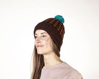01c0888d439 AITA winter Headwear  for Men Women  Hat  Handmade pom pom Beanie  wool hat  knitted  unisex  Chanel pattern
