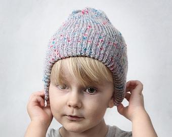06ad38c5235 Kids beanie Toddler beanie Baby beanie Slouchy beanie White beanie hat for  kids Spring headwear Infant knit hat Children beanie