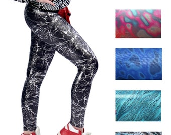 71607b08799a8b Patterned Leggings - Mixed Prints - (Festival Leggings, Spandex Leggings,  Shiny Leggings, Disco Leggings, Sparkly Leggings, Unique Leggings)