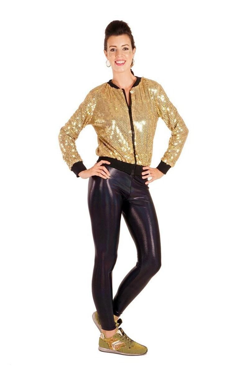 5387ca69 Glitter Gold Sequin Bomber Jacket Gold Bomber Jacket | Etsy