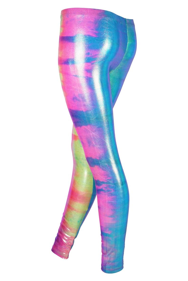 f20ea0f419d16 Rainbow Dip Dye Leggings Festival Leggings Spandex | Etsy