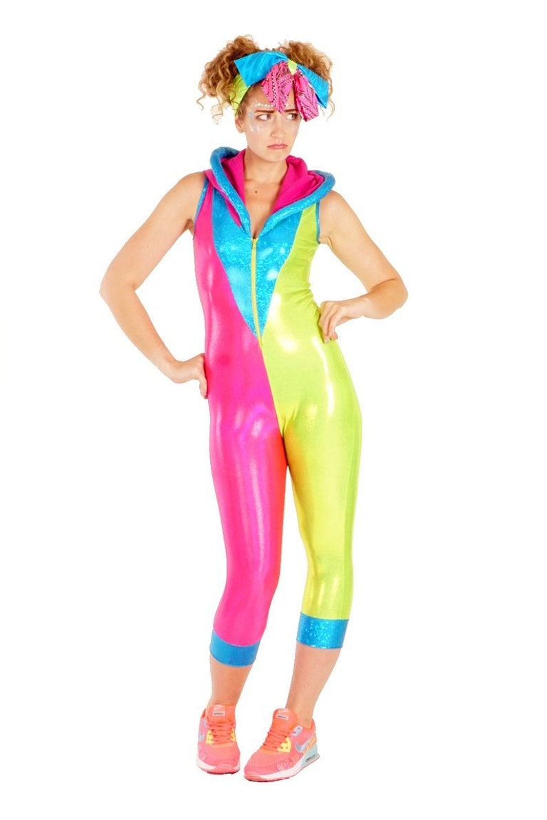 181c994440c1 Green & Pink Neon Nonsense Spacesuit Colorful Catsuit | Etsy