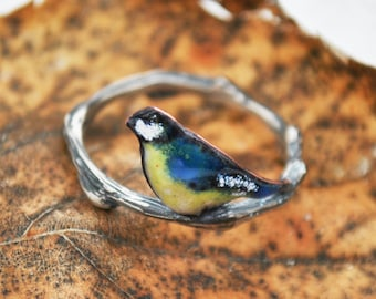 bird on the twig ring