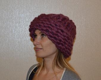 Chunky Merino Wool Hat, Super Chunky Hat, Chunky Knitted Hat, Merino Wool Hat, Hand Knit Hat, Knitted Hat, Winter Hat, Wool Hat, Warm Hat,