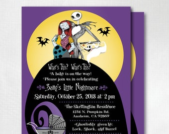 Nightmare before christmas baby shower invitations etsy digital nightmare before christmas baby shower invitation nightmare jack sally baby shower invite nightmare halloween baby showerdi4541 filmwisefo