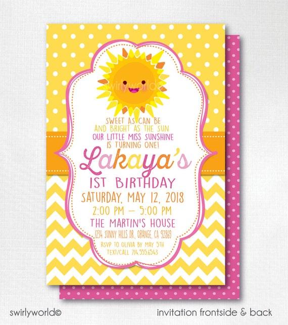 You Are My Sunshine Birthday Invitations Printed Sunshine Etsy