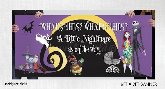 Nightmare Before Christmas Baby Shower Banner Nightmare Baby Etsy
