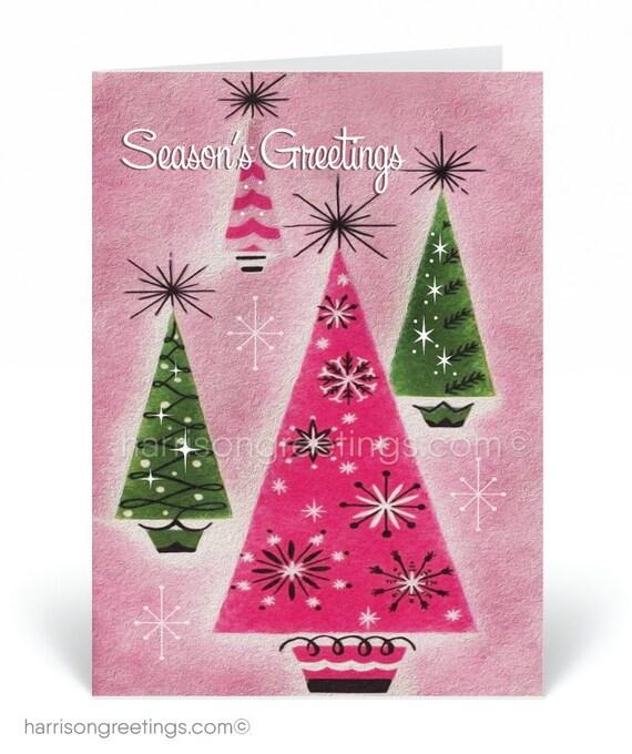 Mid Century Modern Christmas Tree.Mid Century Modern Christmas Cards Printed Retro Mcm Holiday Cards Retro Mod 1950s Christmas Cards Mcm Christmas Cards Atomic Mod 36975