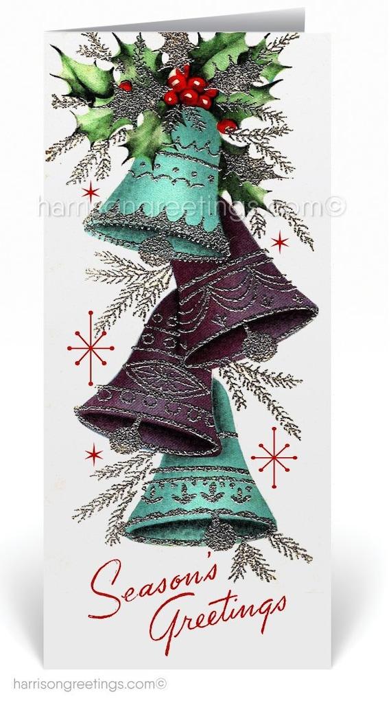 Retro 1950s Vintage Mid Century Christmas Cards Printed 1950s Etsy