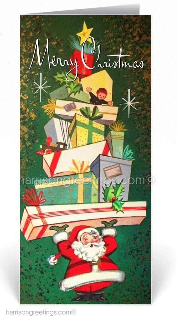 Retro 1950s Vintage Mid Century Christmas Cards Printed 1950s | Etsy