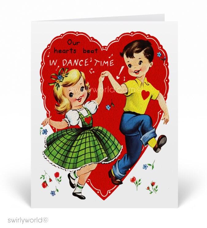 vintage 1950s kids valentine's day cards 1950s vintage  etsy
