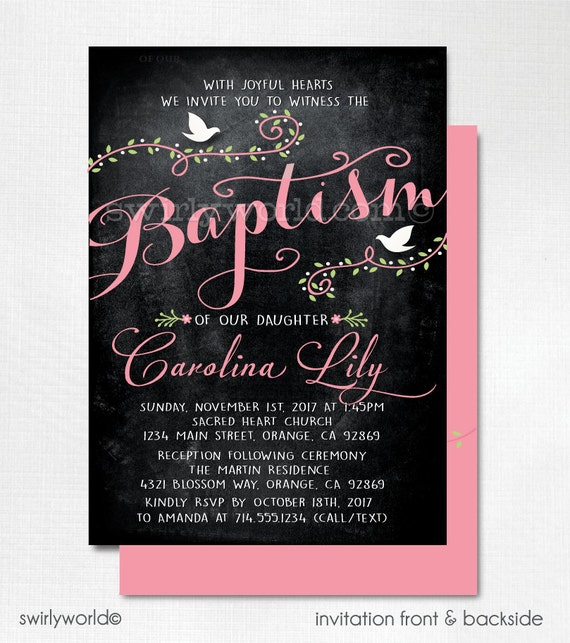 vintage baptism invitations christening invitations for etsy