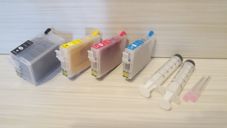 sublimation Refillable ink cartridges for Epson Workforce 252xl black  wf-3620 wf-3640 wf-7110 wf-7610 wf-7620 WF-7210 WF-7710 WF-7720 chips