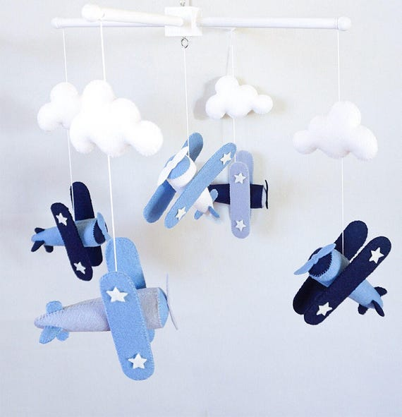 Airplane Baby Mobile Nursery Mobile Cot Mobile Crib Mobile