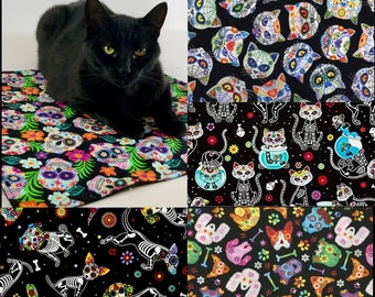 Day of the Dead blankies - cats and small dogs