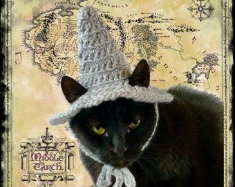 Metallic gray Gandalf wizard hat