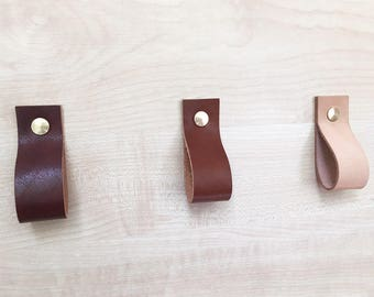 Leather Loop Pulls for drawers