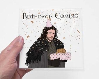Game Of Thrones Card, Original Creation, Birthday, TV Show, Funny, Love, Geek, Pop Culture, Cute, Gift Woman, Man, Anniversary, Girlfriend