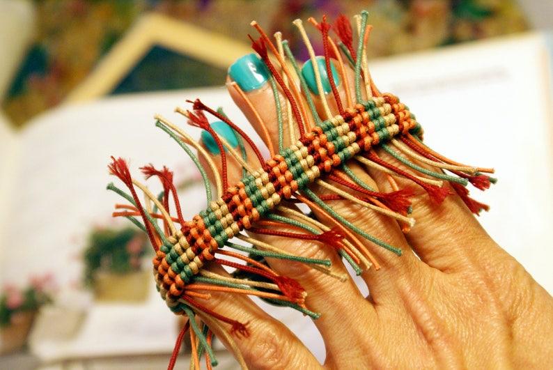 Handwoven Macrame Boho Bracelet Colorful Bohemian Bracelet Braided Hippie Jewelry Summer Fringes Bracelet Wooden Button Gift for girlfriend
