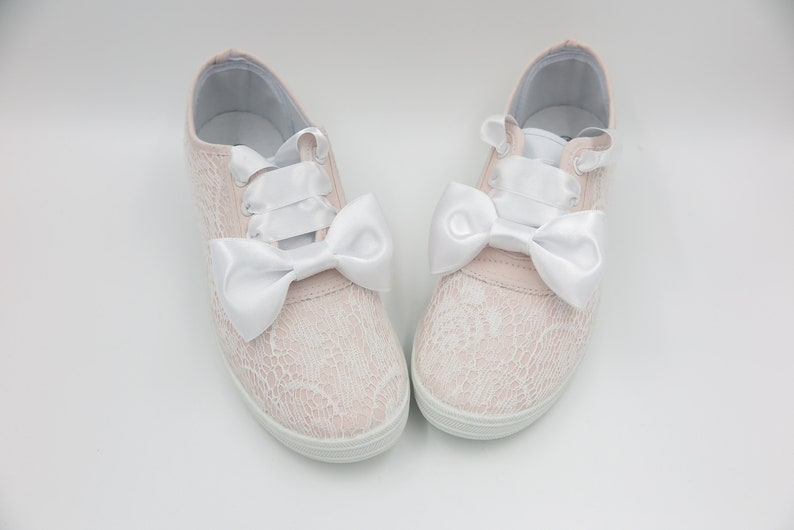 5df422eef82e Wedding sneakers Lace shoes Bridal shoes Bride to be Hen