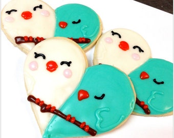 Love Birds Sugar cookies