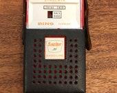 Sinclair Gasoline Transistor Radio with Case, Vintage Sinclair Dino Radio