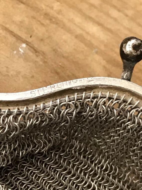 Vintage Victorian Sterling Mesh Purse Chatelaine … - image 8