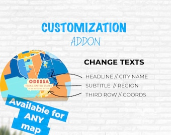 CUSTOMIZATION ADDON – Change the texts of your map.