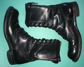bfac2f32cd663 Cap toe combat boot | Etsy