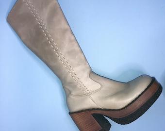 Lavorazione Artigiana Vintage gemacht in Italien Leder westlichen CHELSEA Stiefel Hipster Indie Boho Frauen 8 12 uns