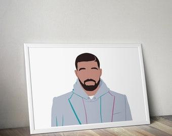 02729ea43ca Drake Poster Print - Drake Wall Art - Drake - Music Poster - Minimalist  Poster - Drake Gifts - Drake Decor - Drake Views