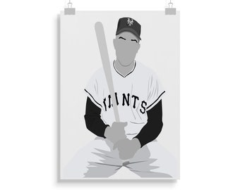 2af0b6363ed Willie Mays Poster - Baseball - Willie Mays Print - Wall Art - Gift