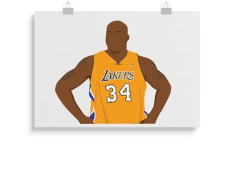 4347e6a0103 Shaquille O'Neal Poster - Basketball - Shaquille O'Neal Print - Wall Art -  Gift