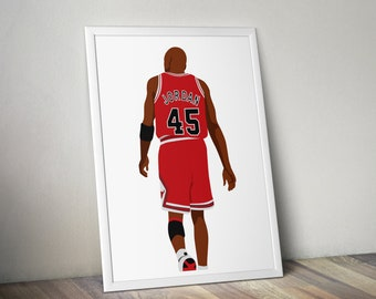 46df08eb9de Michael Jordan - Michael Jordan Print - Art Print - Air Jordan - Basketball