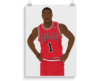 super popular 9ba63 fa517 Derrick rose | Etsy
