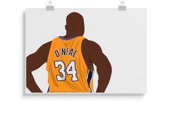 64742b80e0e Shaq Poster - Basketball - Shaquille O'Neal Print - Wall Art - Gift