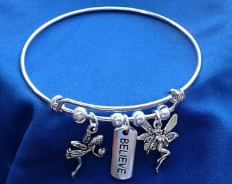I Believe in Fairies Charm Bracelet