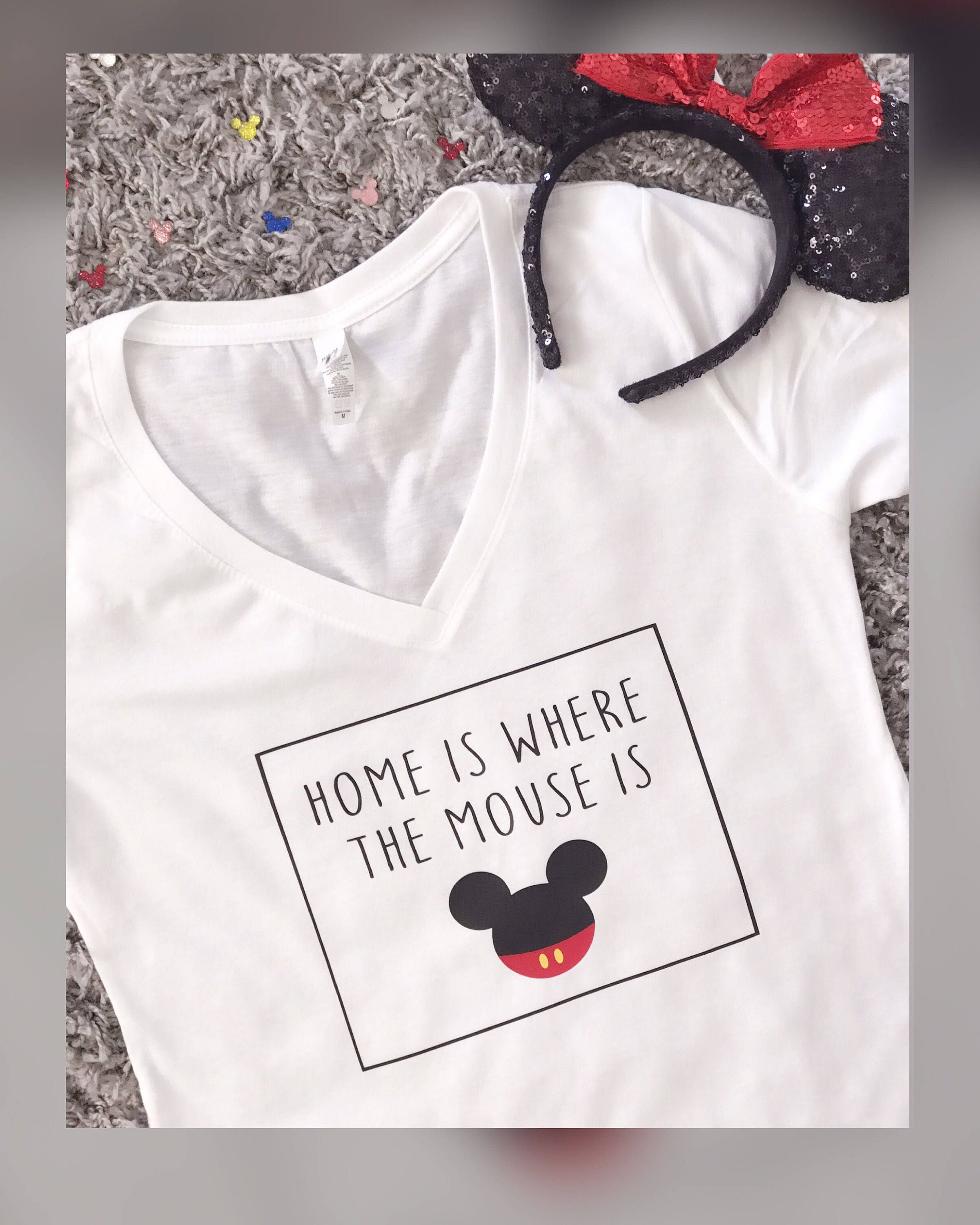 Home Is Where The Mouse Is Tee Disney Tee Funny Disney