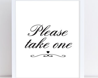 photograph regarding Free Printable Please Take One Sign identify Wedding day Reservation Indicator Reserved Indication Printable Wedding day Etsy