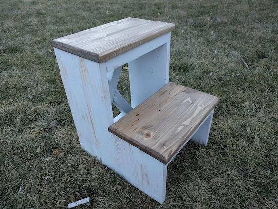Iltk Calendario.Reclaimed Wood Step Stool Rustic Step Stool Rustic Stool Handmade Step Stool Free Shipping
