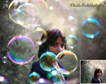 Bubble Overlay Photo Overlays png Wedding Newborn Bubbles Digital Photo Effect Photography backdrop
