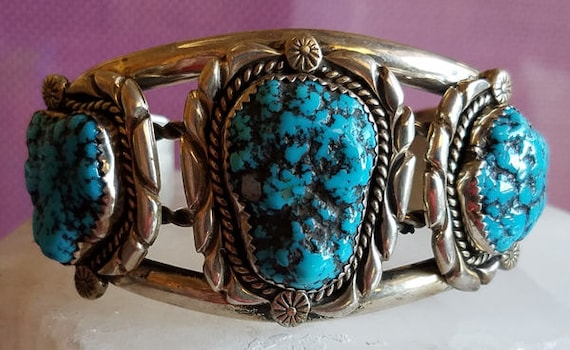301 Turquoise and Sterling Silver Cuff Bracelet