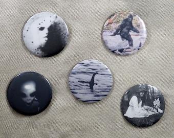 Set of Cryptozoology pins