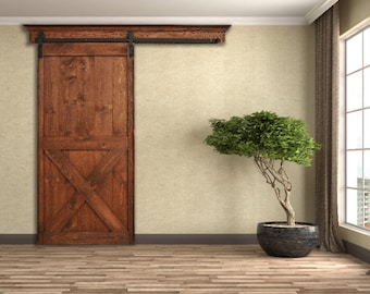 Wonderful Decorative Barn Door Crown Mounting Board Solid Oak